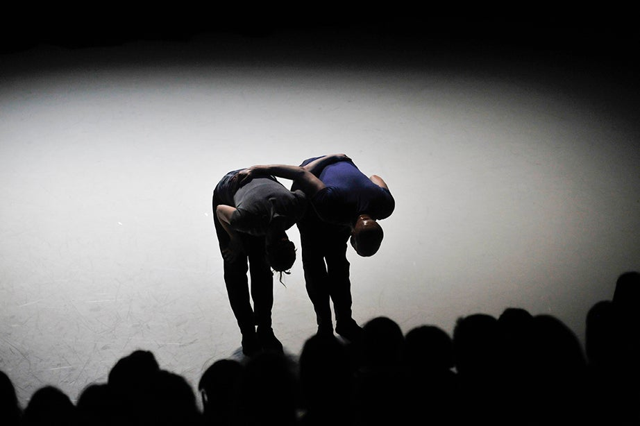 Jill Johnson and Christopher Roman take a bow. Jon Chase/Harvard Staff Photographer