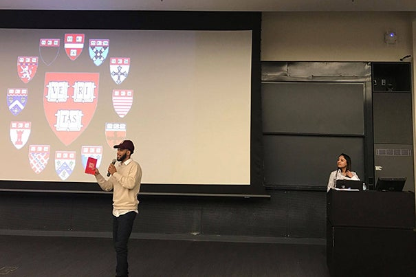 """""""Doing what you love will afford authenticity and compel creativity,"""" said """"Single to Single"""" author Antwan Steele at the Harvard Graduate Council's Leadership Conference."""