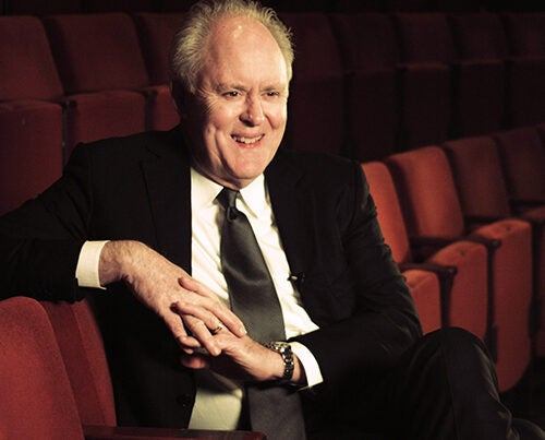 Actor John Lithgow '67, Art.D. '05 sat down with the Gazette to talk about how he got his start in acting, his formative years in theater on campus, and his deep affection for Harvard.