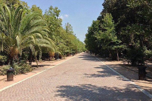 "An alarming report from Harvard's Bagnoud Center describes the ""emergency within an emergency"" of migrant children stranded in Greece that turn to prostitution in places such as Athens' Pedion tou Areos Park (pictured) to save money for their smuggling fees."