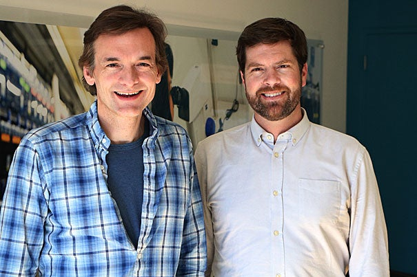 In a cross-school collaboration, Harvard researchers Steve McCarroll (left) and Kevin Eggan couple stem cell science with genetics and genomics to advance the understanding of human brain illnesses. Their latest project identified mutations that stem cell lines acquire in culture.