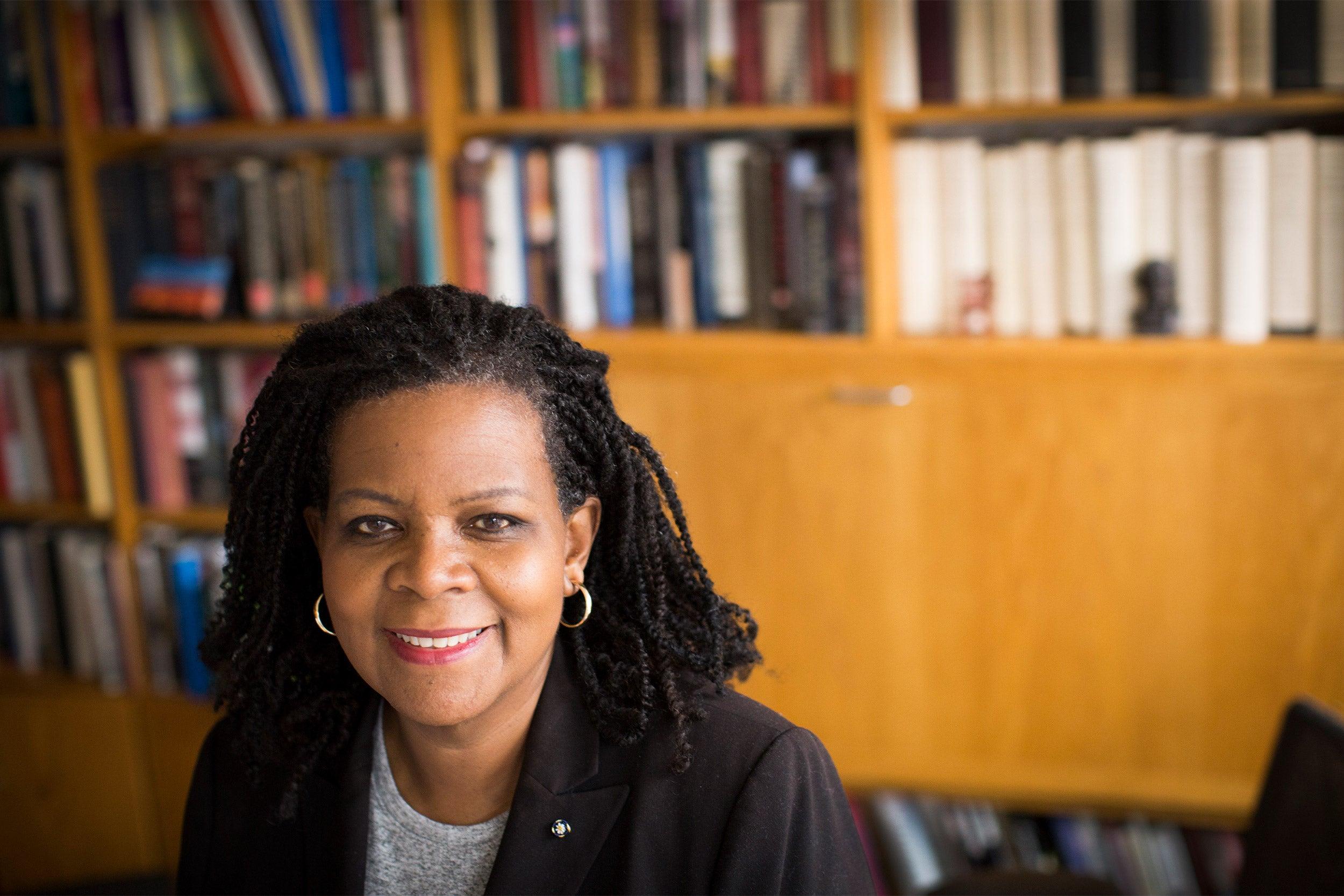 Annette Gordon-Reed in her office.