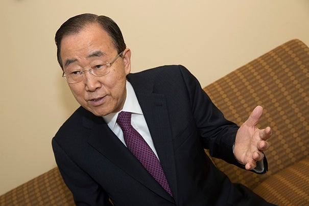 Former Secretary-General of the United Nations Ban Ki-Moon spoke to the Gazette about his tenure at the helm of the U.N. and his global concerns going forward.