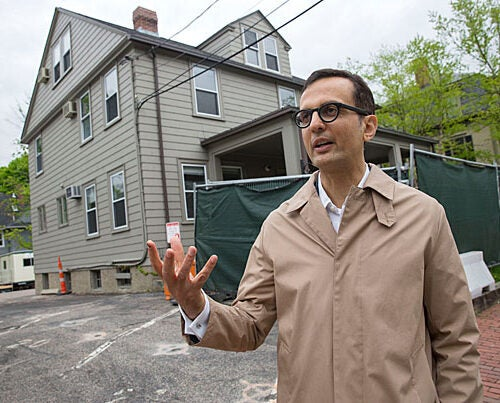 Director of the Harvard Center for Green Buildings and Cities Ali Malkawi is retrofitting 20 Sumner Road, built almost 100 years ago, to become an ultra-efficient building and ultimately the Center's headquarters.