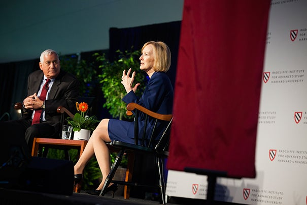 """In a talk with Walter Isaacson, Judy Woodruff recalled her colleague and friend Gwen Ifill: """"I was in the presence of someone who was emblematic of the kind of journalism I believed in."""""""