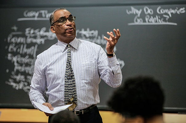 """When I was a student, we had 300 case studies our first year, and only one of those had an African-American protagonist,"" said Steven Rogers, a senior lecturer whose course ""Black Business Leaders and Entrepreneurship"" was designed for the Business School. ""The younger generation [of African-Americans] has embraced the philosophy that if you want success, you can be your own boss."""