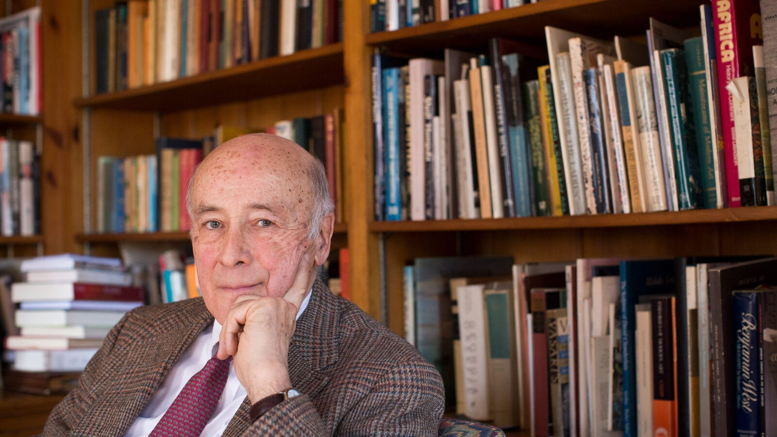 Joseph Nye in his office.