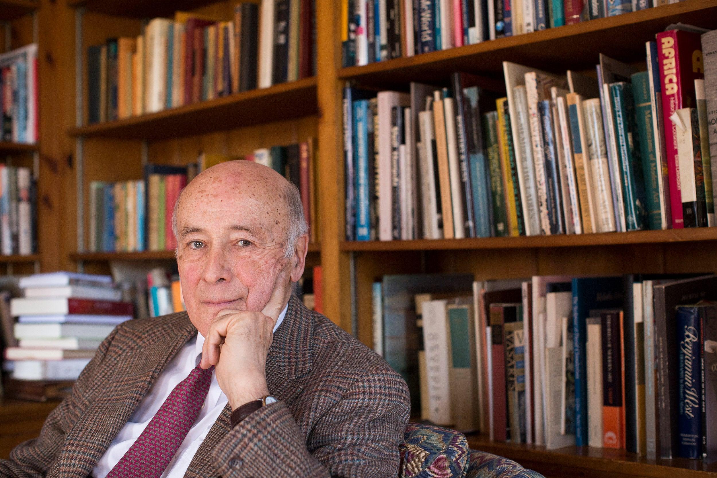 Joseph Nye in his office.