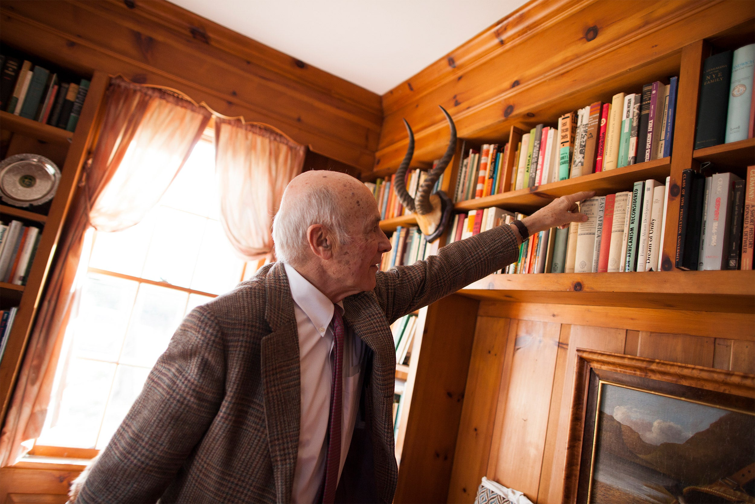 Joseph Nye in his study at home.