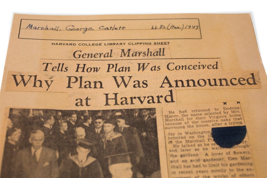 Marshall Plan Harvard
