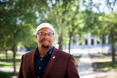 """""""These are challenging times that require us ... to [be] the best of who we are while remembering the divine in each other,"""" says Harvard's newly appointed Muslim chaplain Khalil Abdur-Rashid"""