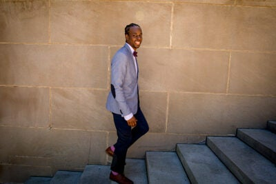 Stanley Fenelon got his job as a business systems analyst with HUIT through Year Up, a nonprofit program that provides training and networking opportunities for underserved young people.
