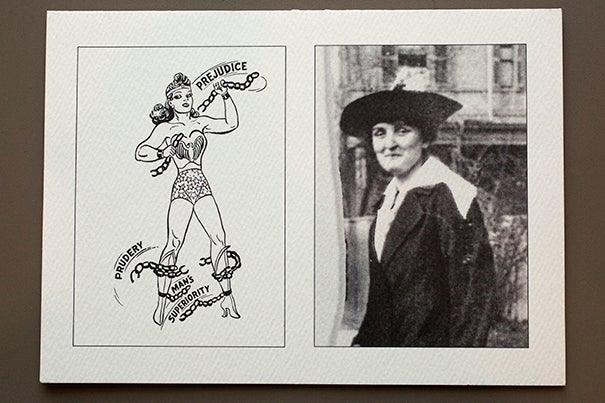 The official papers of psychologist and inventor William Moulton Marston, the complicated creator of comic book superhero Wonder Woman, will be coming to the Schlesinger Library.