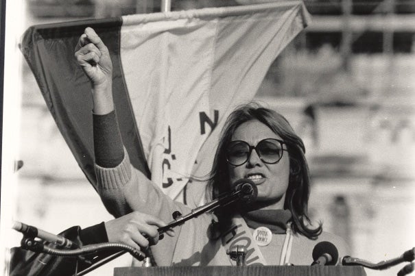 Students in a new class on feminism learned about leaders in the struggle for women's rights, such as social activist Gloria Steinem who fought for decades for women's reproductive rights.