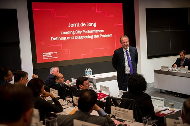 """""""Local government is close to the people. Mayors are most immediately held accountable when something goes wrong,"""" said Harvard Professor Jorrit de Jong, the initiative's faculty director. Photo: © Bloomberg Philanthropies"""