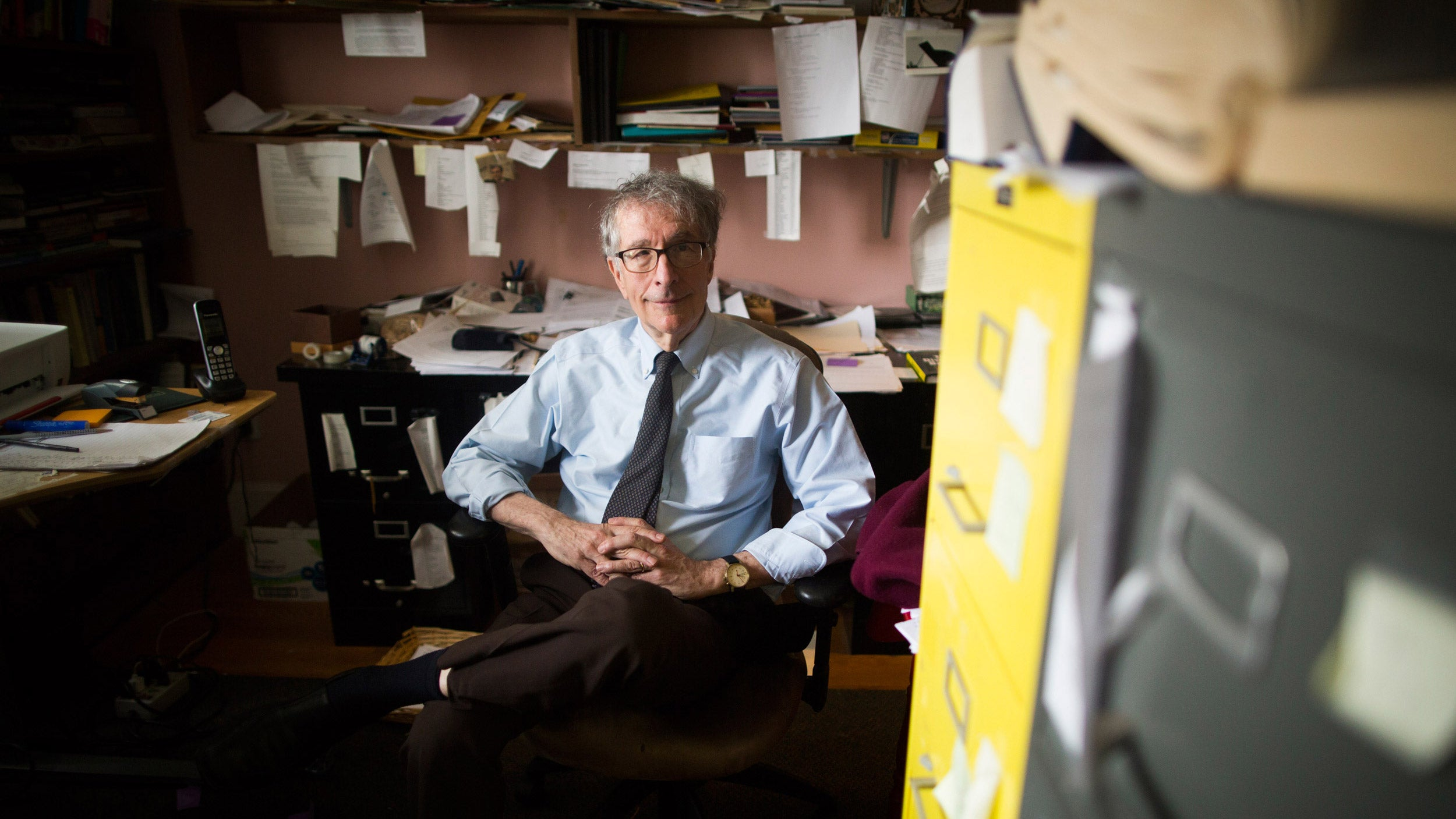 Howard Gardner in his office.