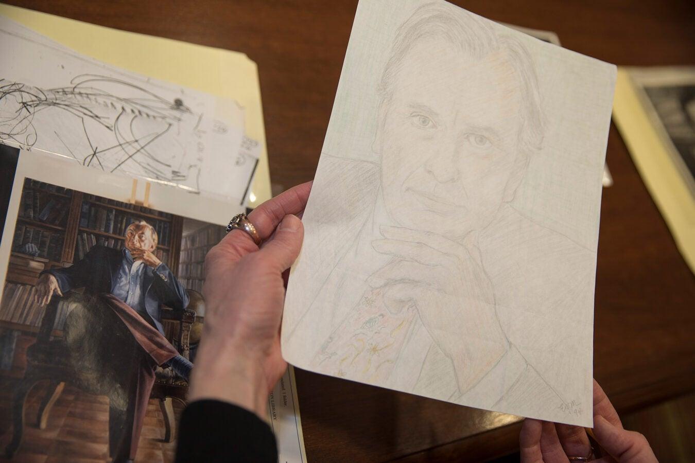 Fan drawing of Gore Vidal.
