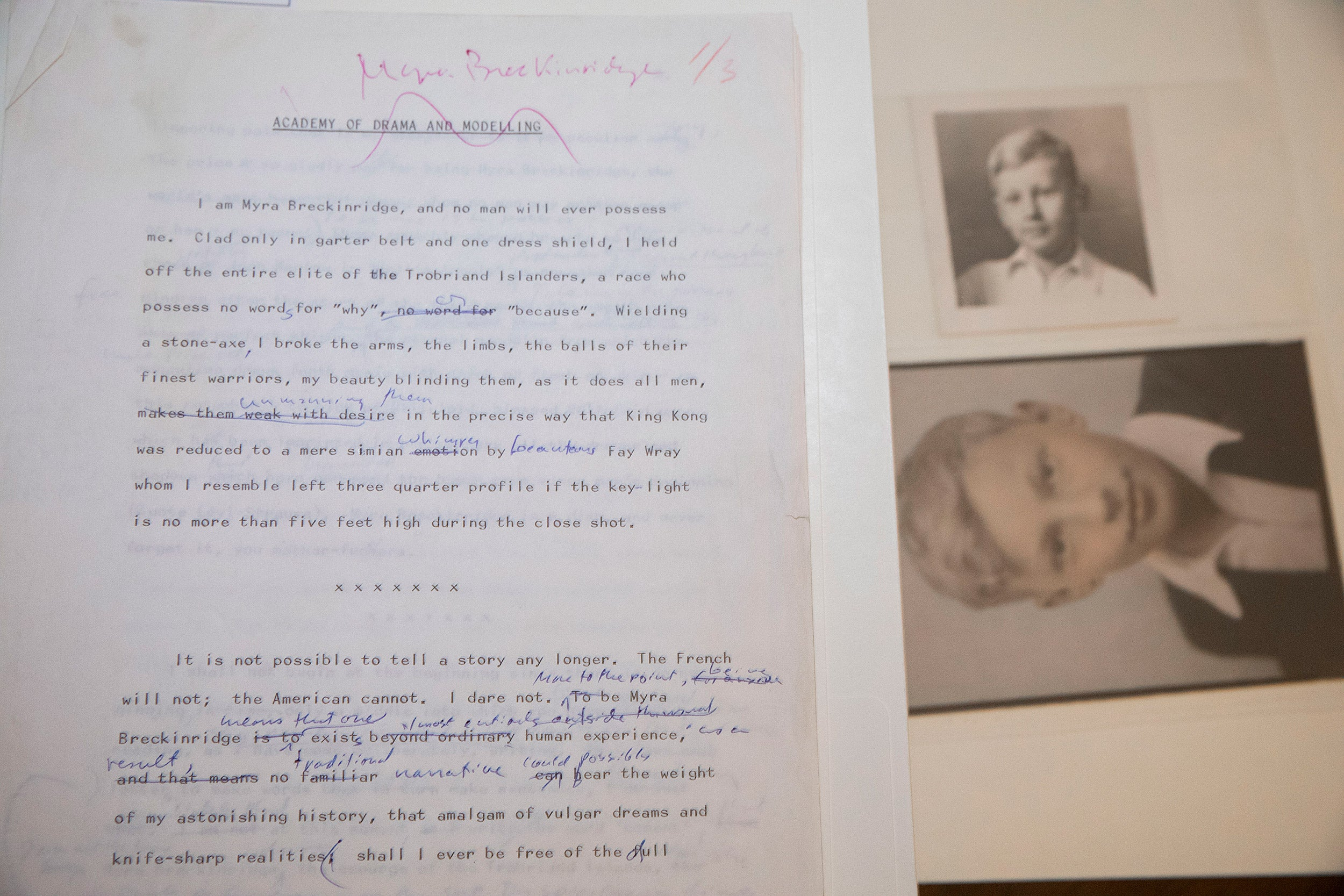 """Myra Breckinridge"" draft."