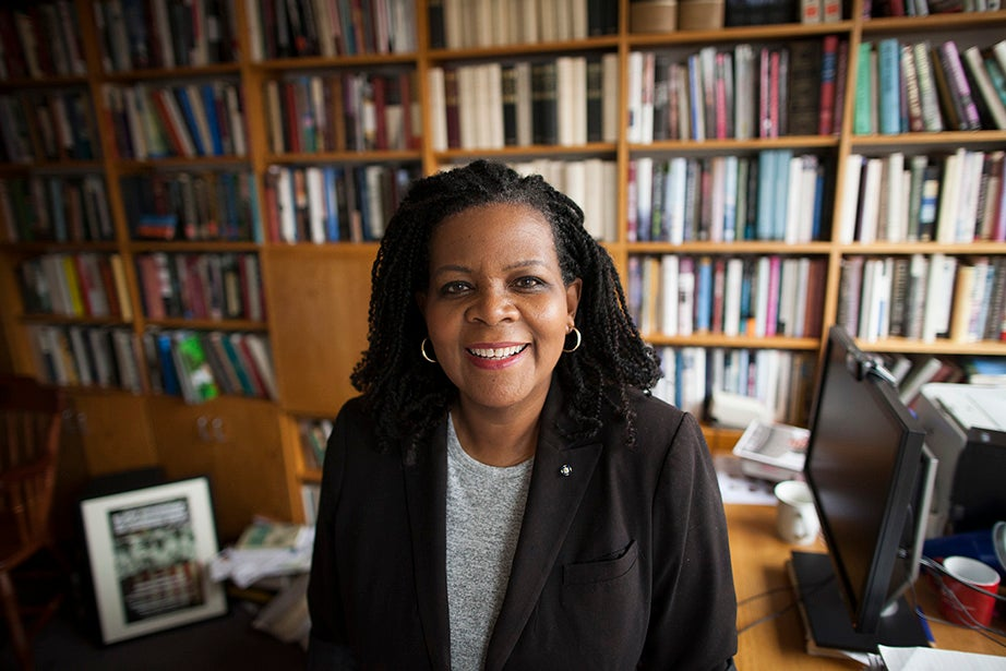 """""""It makes the school less mysterious if you know both other students and professors,"""" Annette Gordon-Reed says."""