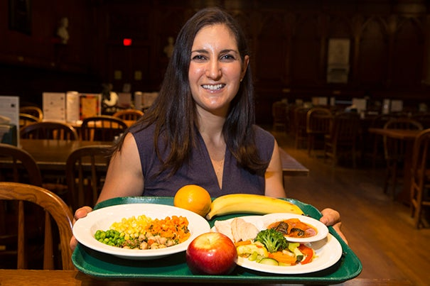 Juliana Cohen, assistant professor of nutrition at the Chan School, says healthy school lunches, and more time to eat them, can have long-term effects on students' academic performance.