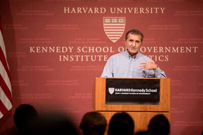 Pete Souza, former White House photographer for Presidents Ronald Reagan and Barack Obama, joined Ann Marie Lipinski at the JFK Jr. Forum to discuss his time photographing the First Families.