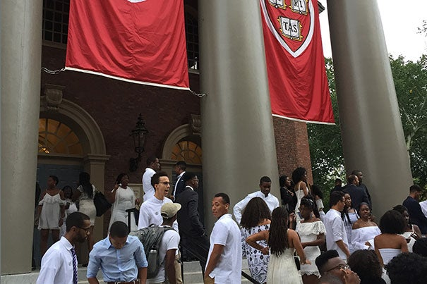 """The Black Students Association held its inaugural convocation at the Memorial Church. The event served as a symbol of """"how far the University has come in the ethnic diversity of the student body,"""" said Hasani Hayden '19, president of the BSA. Photo by La'Toya Princess Jackson"""