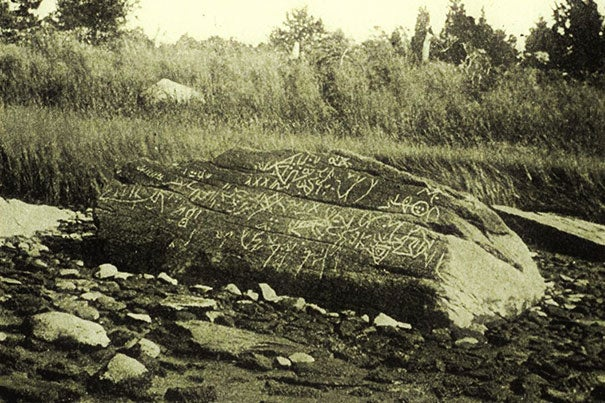 The carvings from Dighton Rock were traced by Harvard Professor Stephen Sewall in 1768 and attracted the attention of scholars from around the world.