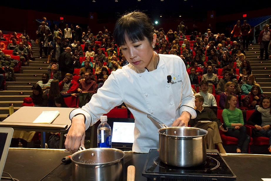 "Flour bakery owner Joanne Chang demonstrates ""The Science of Sugar."""