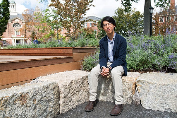 "Harvard College alum and GSD student John Wang's ""100+ Years at 73 Brattle""  is now installed as the winner of the third Radcliffe Institute Public Art Competition."