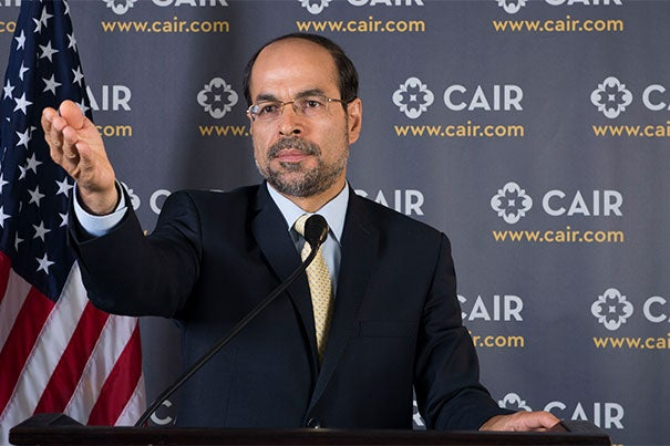 """Nihad Awad, co-founder and executive director of CAIR, will be the keynote speaker and honoree at the Phillips Brooks House Association's Robert Coles """"Call of Service"""" Lecture and Award."""