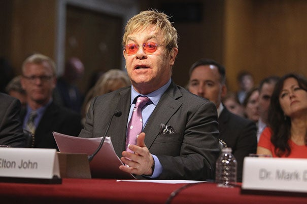 Elton John, AIDS activist and award-winning musician, has been named the Harvard Foundation's Humanitarian of the Year.