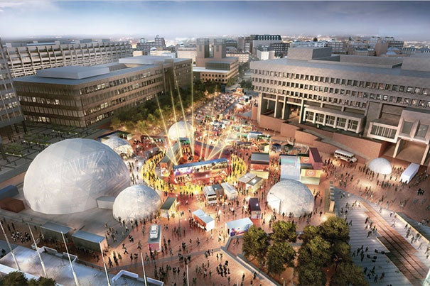 The third annual HUBweek festival kicks off Oct. 10. Future Forum events will take place at the Hub, HUBweek's first-of-its-kind centralized festival site in City Hall Plaza.