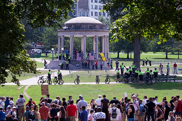 counterprotesters overwhelm white nationalists at Boston Common