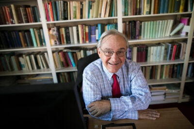 E.J. Dionne in his office.