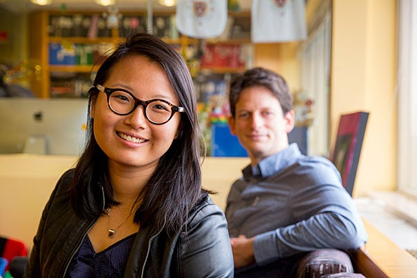 In a new study, MIT researcher Tomer Ullman (right), Harvard University Professor Elizabeth Spelke (not pictured), and Ph.D. candidate Shari Liu found that babies determine the value of a goal by the amount of effort a person is willing to expend to achieve it.
