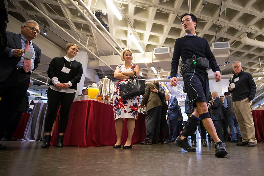 A soft exosuit is demonstrated.