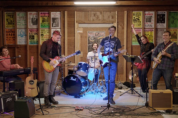 The Big 6, a cover band formed at the Harvard Humanitarian Initiative, is planning a concert to aid communities recovering from Hurricanes Harvey, Irene, and Maria.