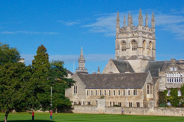 Four Harvard students have been named Rhodes Scholars. Next fall they will attend the University of Oxford. Among the 28 colleges that comprise Oxford is Merton College (pictured). Founded in 1274, it is one of Oxford's oldest colleges.