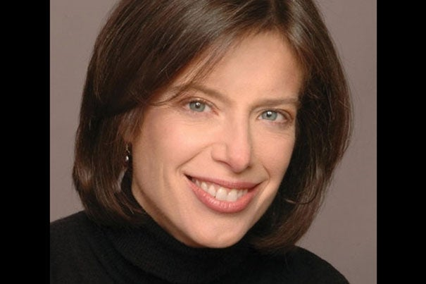 "Pulitzer Prize-winning author Susan Faludi '81, RI '09, is among the panelists at the Schlesinger Library's ""Hidden in Plain Sight: Family Secrets and American History"" at the Radcliffe Institute on Thursday. Photo by Russ Fischella ©"