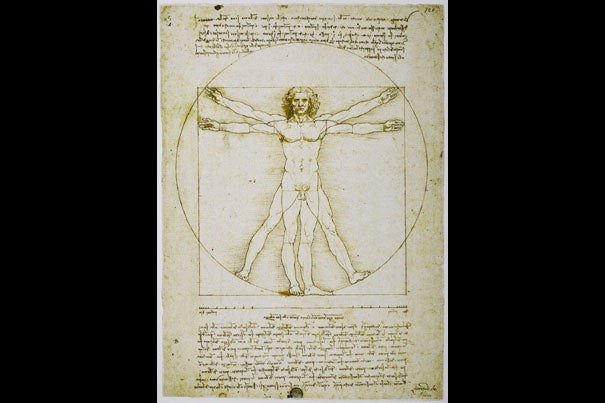 "Leonardo da Vinci, the ultimate Renaissance man, is the subject of Walter Isaacson's newest book. Pictured is Leonardo da Vinci's iconic ""Vitruvian Man"" c.1490."