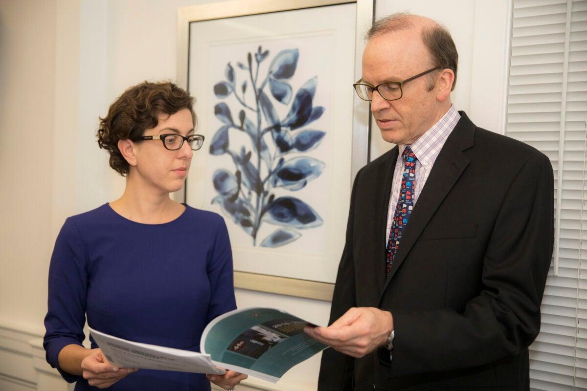 Nicole Merhill and Bill McCants