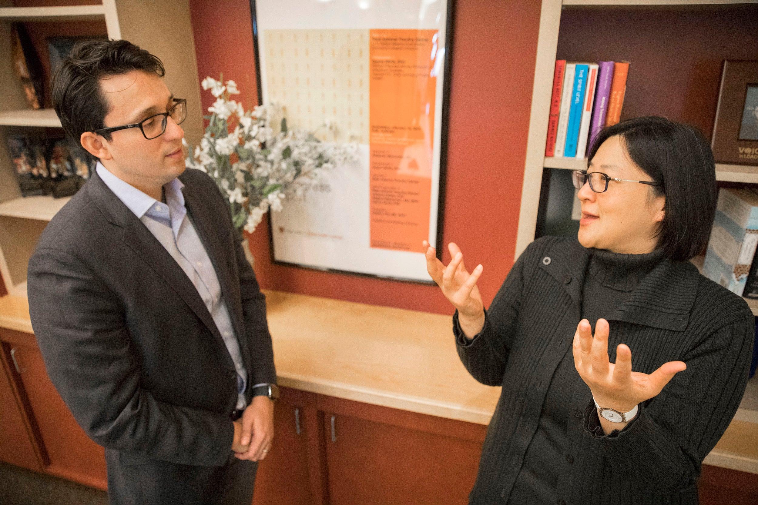 arvard Professor Winnie Yip and Burke Fellow Jose Figueroa