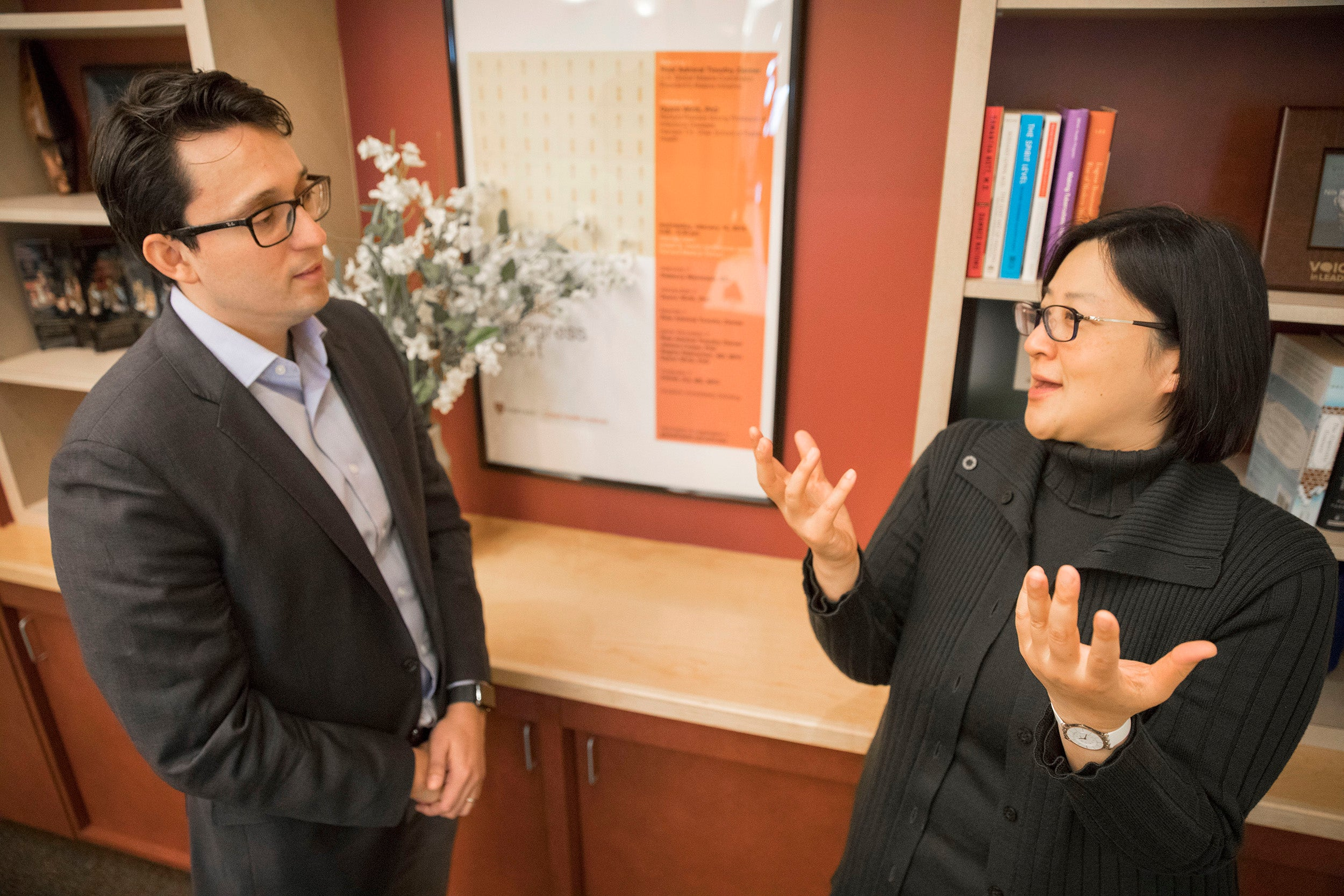 arvard Professor Winnie Yip and Burke Fellow Jose Figueroa
