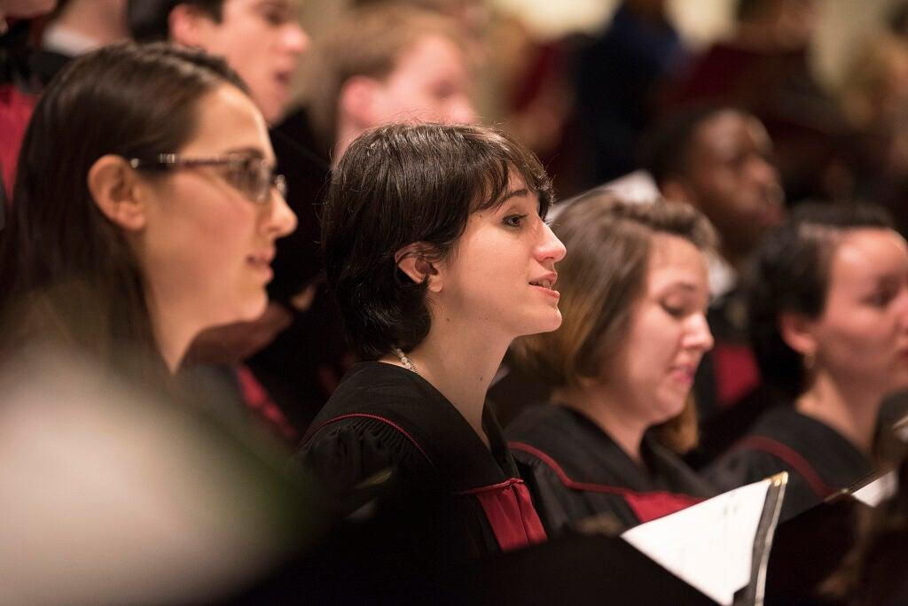 Members of the choir.