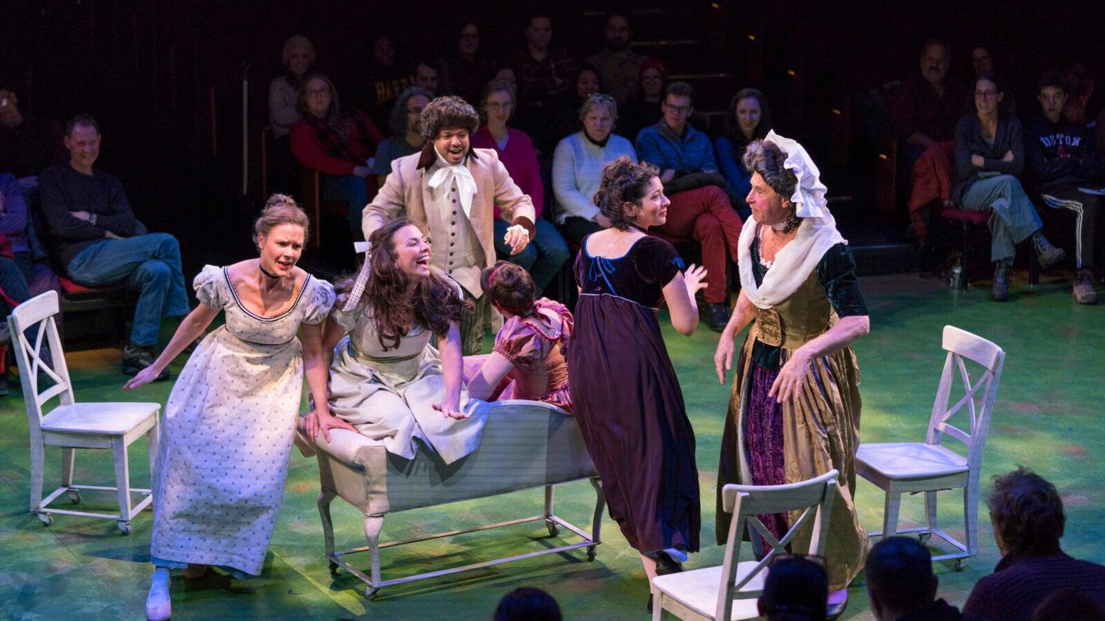 "The cast of ""Sense & Sensibility"" rehearses."