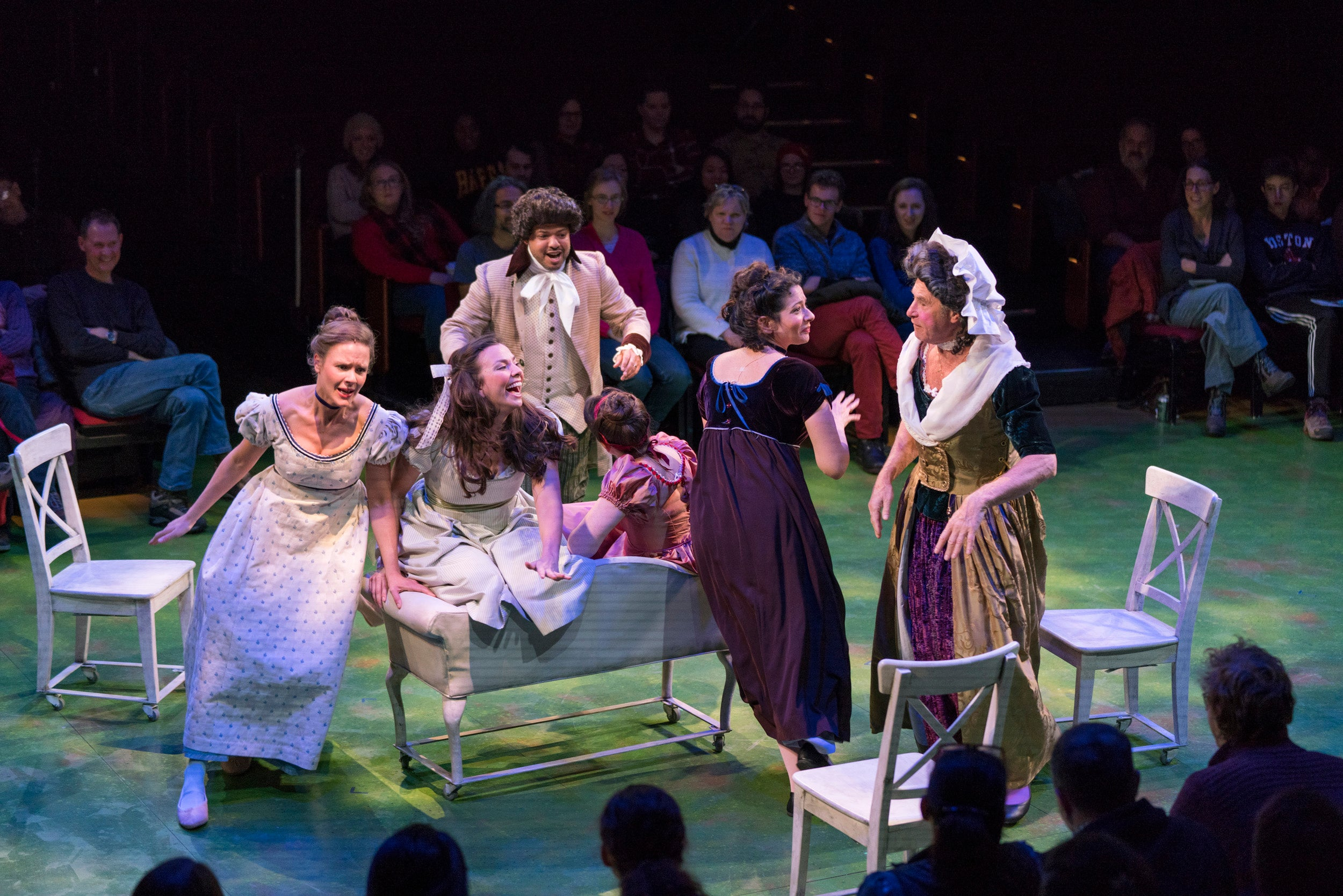 "The cast of ""Sense & Sensibility"" rehearses."