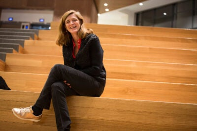 After eight years in the Obama administration, former U.N. Ambassador Samantha Power returns to Harvard. She talks to the Gazette about her time in the White House and reflects on being a civilian observer in the Trump era.