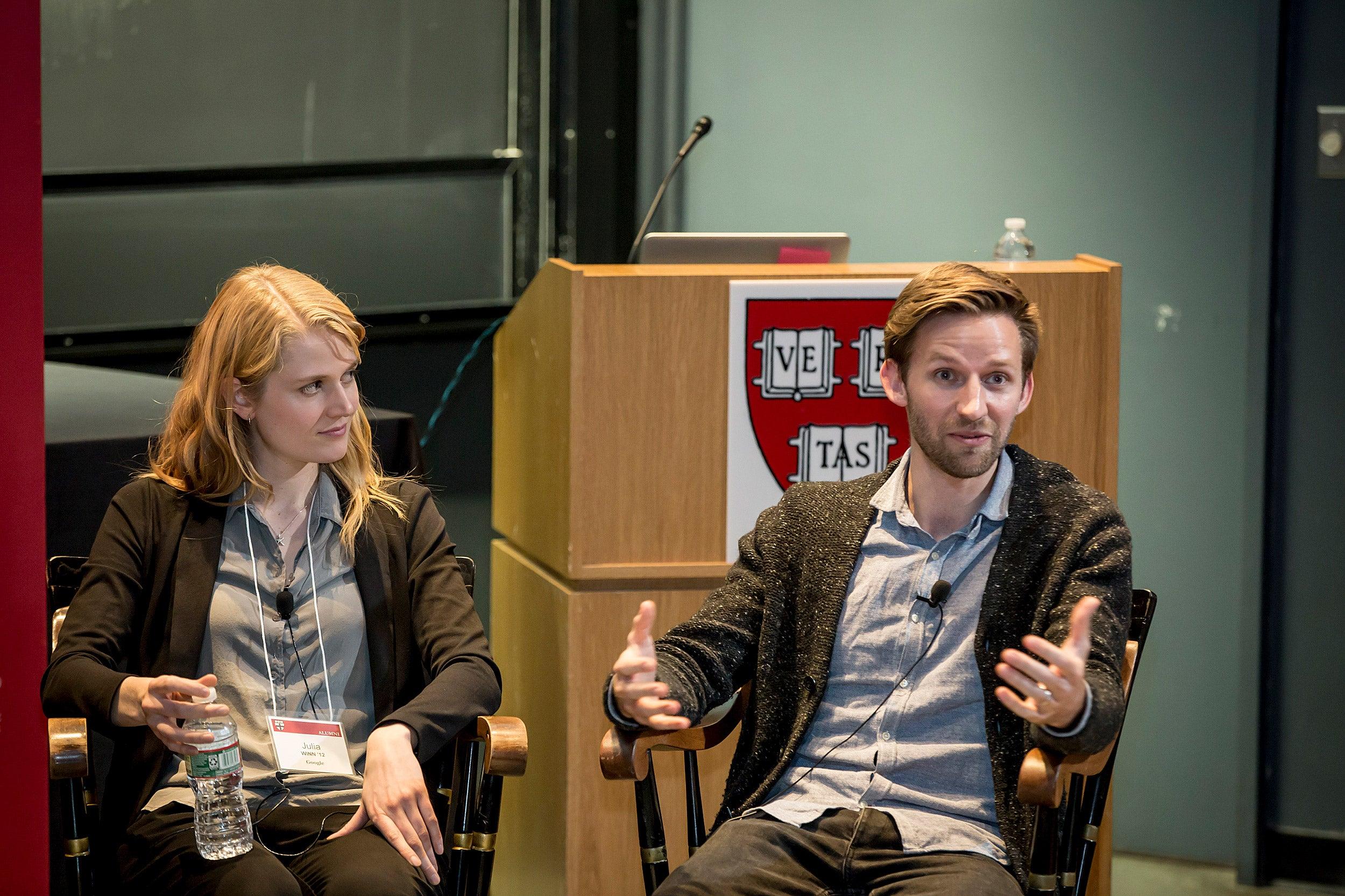 ulia Winn, '12 (pictured, left) and Daniel Nevius, '11