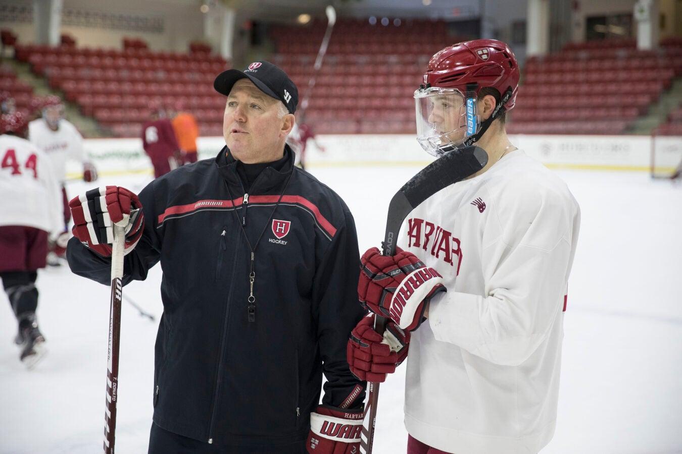 Ryan Donato and his father Ted Donato,