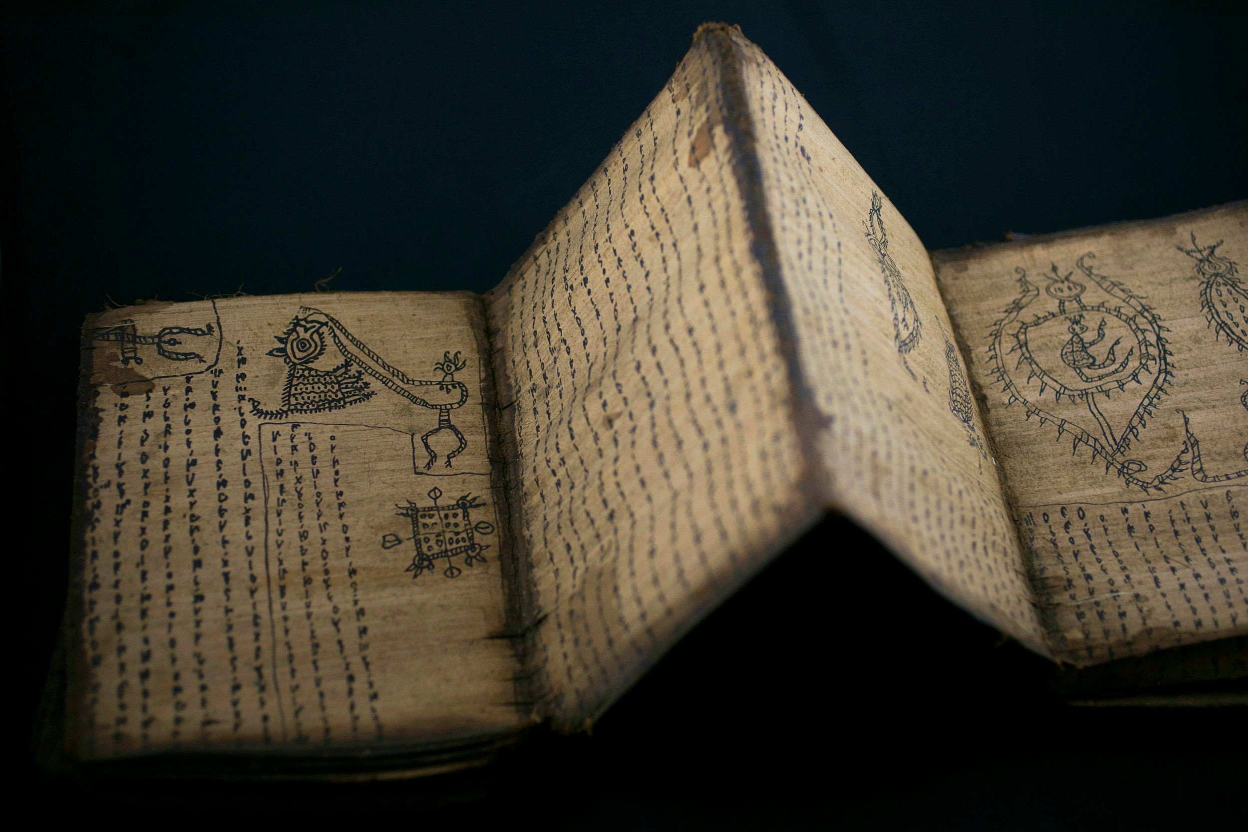 Batak accordion book of spells.